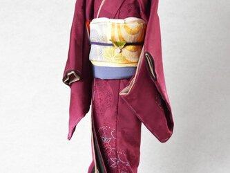「ワインレッド」粋coolこべべ /リメイク着物の画像