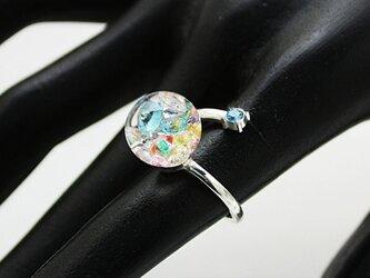 新作Bijou glass Ball Silver Ringの画像