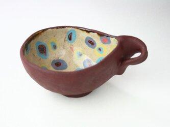 昭和のデザインの鉢 /陶器 /陶芸家/赤/昭和/cute ceramic /potteryの画像