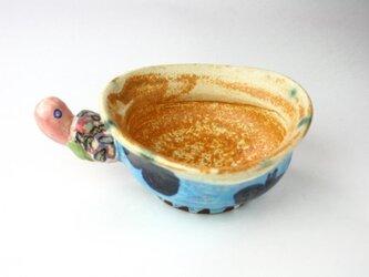 亀のボウル/可愛い子供食器 /陶器 /陶芸家/キッズ食器 /黄瀬戸/cute ceramicの画像