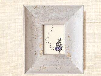 ミニ額縁 原画【 ロマンを運ぶ男 】mini frame ver.の画像