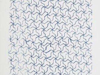 シルクスクリーン版画 幾何学模様の画像
