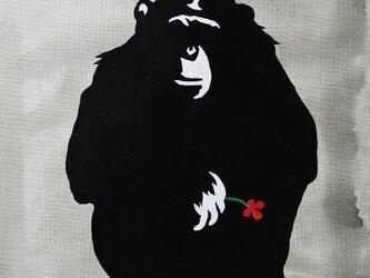 一輪の花を持つチンパンジー 赤花 F6サイズ絵画の画像
