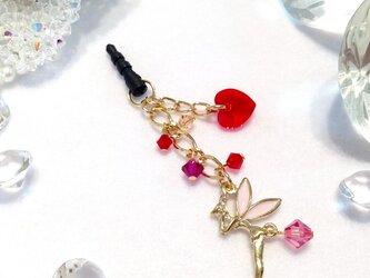 ティンカーベル 妖精のハートイヤホンジャック (ピンク)の画像
