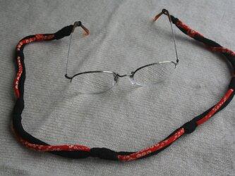 ヒヤッとしない 縮緬眼鏡ストラップの画像