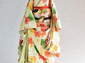 「紅葉」舞妓こべべ /リメイク着物の画像