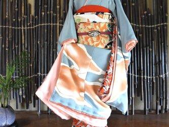 「霞み -かすみ-」舞妓こべべ /リメイク着物の画像