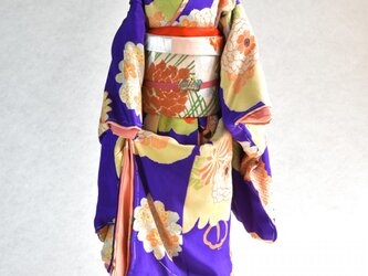 「本紫七五三」舞妓こべべ /リメイク着物の画像