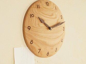 「mayu-nさまご注文の品」掛け時計 栗材の画像