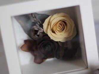 プリザーブドフラワー 母の日のプレゼント BOXアレンジの画像