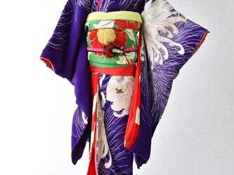 「乱菊」夢こべべ /リメイク着物の画像
