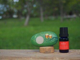満月に爽やかな香りのひと雫、奥能登の天然石アロマストーン。の画像