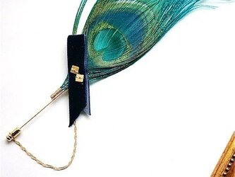 Peacock feather hatpinの画像