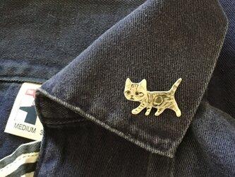 【再販】子猫の行進ブローチの画像