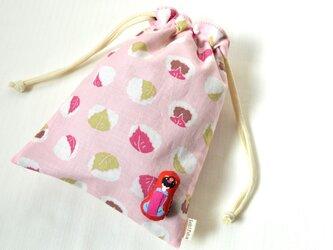 桜餅と舞妓さん・巾着袋 和菓子 さくらの画像