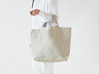 【受注製作】リネン帆布のトートバッグ(M)の画像