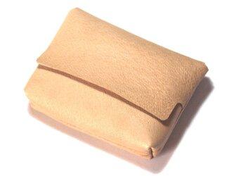 爪楊枝差しのあるポケットティッシュカバー(豚革/ナチュラル)の画像