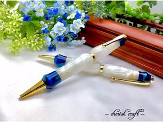 アイスランドサファイア ~Iceland Sapphire~ 手作りボールペン TMA1602bl【送料無料】の画像