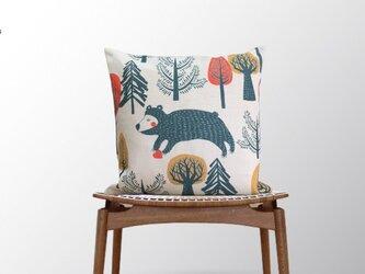 森のクッション Animals in forest Bearの画像