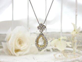 ペアシェイプローズカット ダイヤモンドペンダントの画像