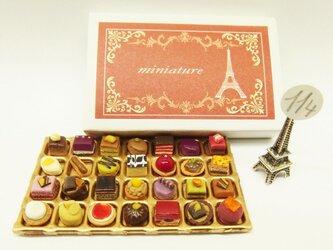 マッチ箱の中のミニチュア フランスのお菓子114の画像