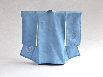 「水色紋紗 スワトウ刺繍」掛こべべ ~涼み~ /リメイク着物の画像