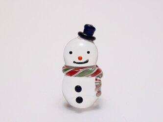 ガラス クリスマス 雪だるま シルクハット ミニの画像