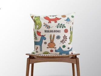 森のクッション Woodland Animalsの画像