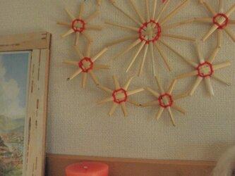 麦藁細工のリース  マーガレッドの画像