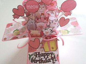 誕生日ポップアップカードBOX「ピンク」の画像