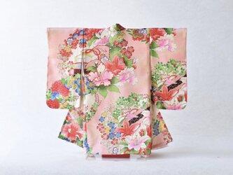 「桜色 花文様」掛こべべ ~涼み~ /リメイク着物の画像