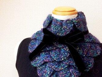 うろこ編みのサンカクミニマフラー 2016MIXの画像