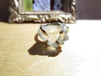【再販】真鍮 シトリン原石リングの画像