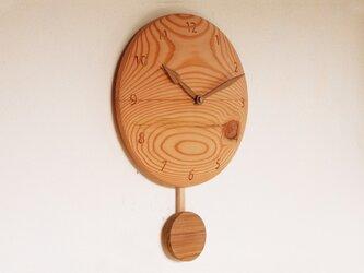 木製 振り子時計 松材1の画像