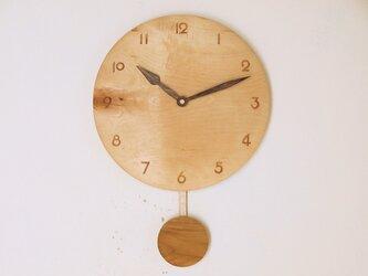 木製 振り子時計 楓材8の画像