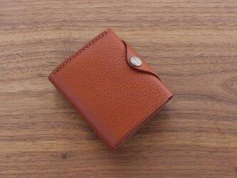 イタリア製牛革の二つ折り財布 4 / ライトブラウン※受注製作の画像