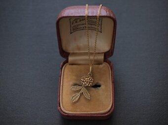 タティングレース gold flower ネックレス 受注制作の画像