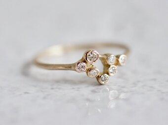 Stardust 7 stones ring [R062K10YG]の画像