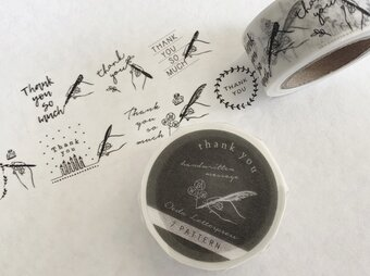 -Handwritten message-Thank you masking tape【7pattern】の画像