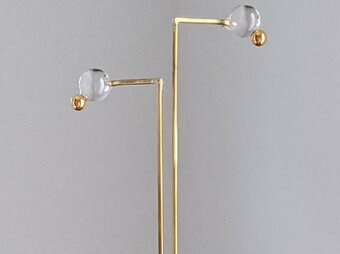 〇。pierce/earring gold【ガラスピアス】【ガラスイヤリング】の画像