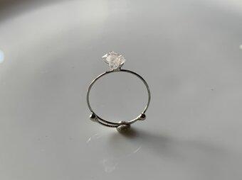 受注製作 鉱物リング 水晶の画像