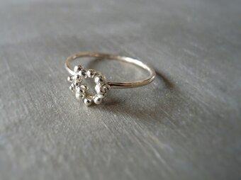 つぶ輪リング K10 イエローゴールド 10金 指輪 K10YGの画像