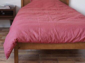 【wafu】リネン 掛ふとんカバー 寝具 ベットリネン 防菌 防臭 速乾 / ローズポンパドウル【シングル】r003a-rpr2の画像