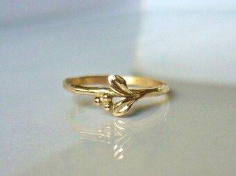 「受注製作 マートルのK10の指輪」の画像
