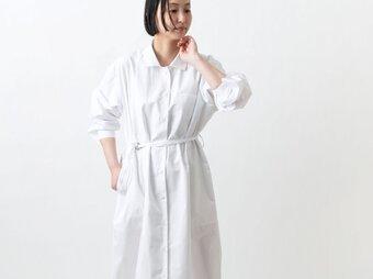 【new】木間服装製作 / longshirt white / unisex 1size / ロングシャツの画像