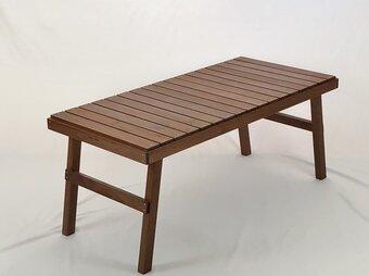 折り畳みテーブル ブラックウォールナット 一点モノの画像