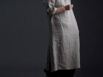 【wafu】Wafu Premium Linen スリットワンピース / フラックス a032j-fix2の画像