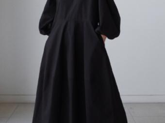 【送料無料♪】秋 ランタンスリーブドレス  長袖カジュアルスカート ゆったりの画像