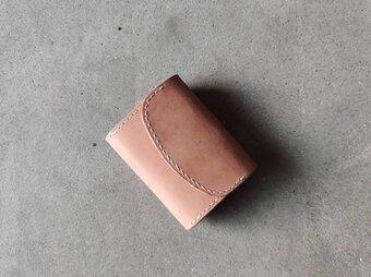 名前刻印無料 本革ヌメ革 昭南ベンズ コンパクト薄型財布 コンパクトだけどコイン、紙幣、カードを収納できますの画像