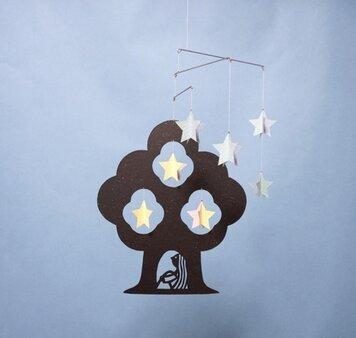 モビール「星の木」その1の画像